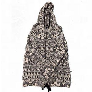 American Eagle knit Aztec hoodie.